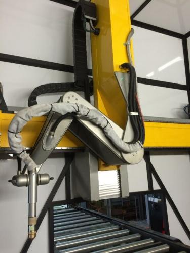 Robotic CNC plasma beam machine eliminates manual coping