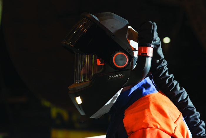 Gamma helmets new  benchmark for welder safety